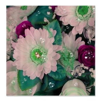 flowers-bling Shower Curtain> flowers with