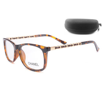 Perfect Chanel Women Edgy Optical Clear Lens Fashion Brand Designer Eyeglasses Glasses