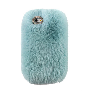 COZY FUR PHONE CASE MINT