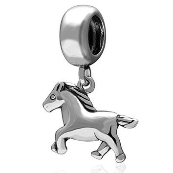 Horse Charm 925 Sterling Silver Animal Charm Partner of knight Charm warrior Charm for Pandora Bracelet