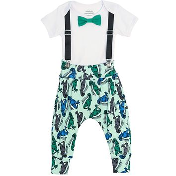 Dinosaur Print Pant Trendy Set by Noah's Boytique