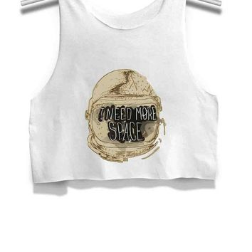 ESBP7V Astronaut Need More Space Womens Crop Tank Top