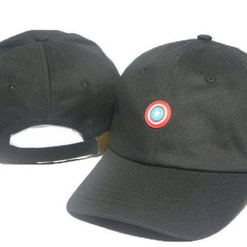 Day-First™ Black Captain America Embroidered Baseball Cap Hat