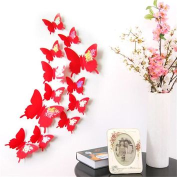 My House Wall Stickers Decal Butterflies 3D Wall Art Home Decors 3d wall paper jun 14