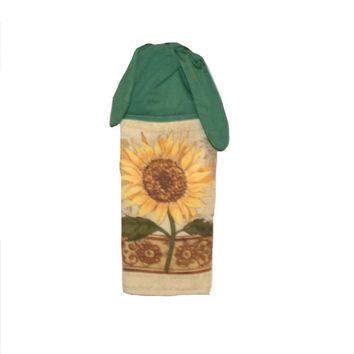 Sunflower Hand Towel, Kitchen Hand Towel, Sunflower Towel, Dish Towel,  Floral,