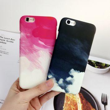 Art oil painting mobile phone case for iPhone7 7S 7 7Splus iphone 5 5s SE 6 6s 6plus 6s plus + Nice gift box!