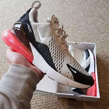 Nike Air Max 270 men and women fashionable stylish air cushion comfortable sneakers F