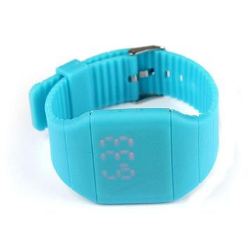 Womens Digital LED Touch Sports Silicone Bracelet Wrist Watch
