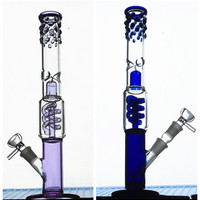 NEW Grace blue purple green glass bong Spiral filtration glass water pipe oil rigs glass bowl hookahs smoking accessories