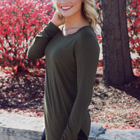 The Perfect Long Sleeve Top - Olive