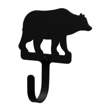 Wrought Iron Bear Decorative Wall Hook Xsmall