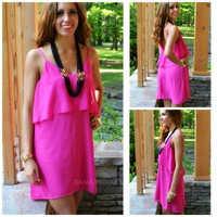 Highlands Fuchsia Layered Tank Dress
