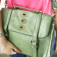 Retro Mint Cambridge Style Satchel