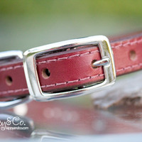 Vintage Leather Concho Crystal Collar