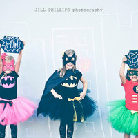 Robin Super Hero Tutu Costume inspired by Batman by KirrasBoutique