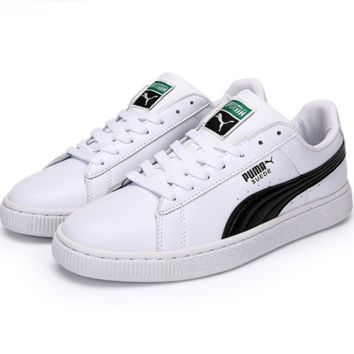 PUMA Pigeon Women Men Casual Running Sport Shoes Sneakers  White black