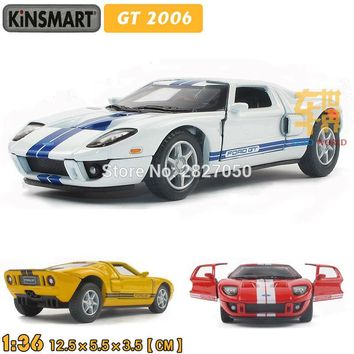 4 Colors Ford GT 2006 1:36 5Inch Diecast Metal Alloy Cars Toy Pull Back Car As Gift For Kids