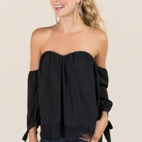 Rosalyn Tie Sleeve Bustier Top