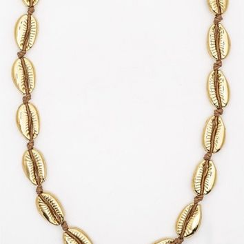 Metallic Shell Necklace