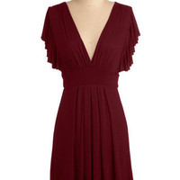 Plum Role Dress | Mod Retro Vintage Solid Dresses | ModCloth.com