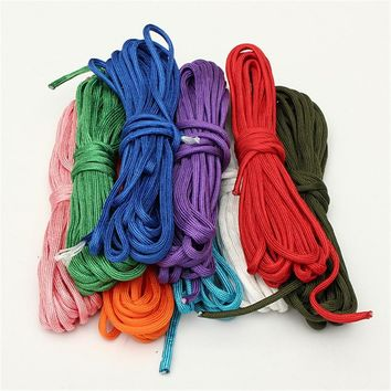 High quality 550 lb Survival Bushcraft Paracord Parachute Cord Lanyard Rope 7 Strand Core 20 FT 7 color