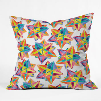 CMYKaren Star Power Throw Pillow