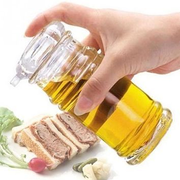New 3 Size Eco-Friendly Clear Acrylic Soy Sauce Vinegar Olive Oil Bottle BBQ Dispenser Shaker Kitchen Utensils Seasoning Cans