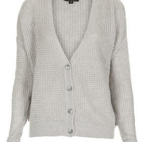 Knitted Textured Grunge Cardi - Knitwear  - Clothing