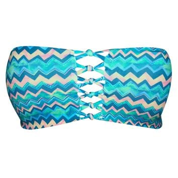 HAWAIIAN PALMS Shorebreak & Tide Braided Bandeau Top