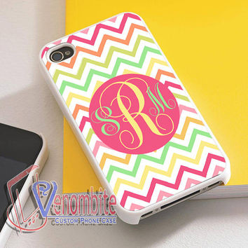 Monogram Phone Case Otterbox Multi Colored Chevron For iPhone 4/4s Cases, iPhone 5 Cases, iPhone 5S/5C Cases, iPhone 6 cases & Samsung Galaxy S2/S