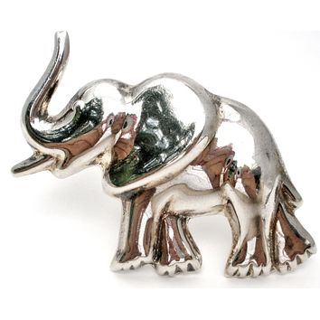 Elephant Pendant Brooch Sterling Silver Taxco