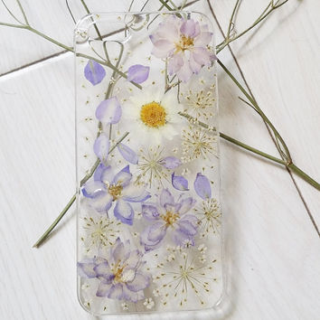 Handmade Real Natural Pressed Flowers iphone 6 6 plus by Blingsky