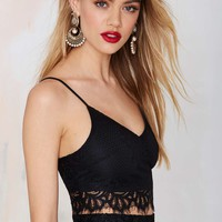 Up All Night Lace Crop Top