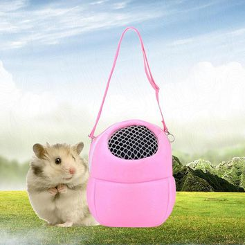 Breathable Plush Hamster Cage Portable Squirrel Hedgehog House Bag Pet Kit Small Animal Carrier Warm Sleeping Travel Hanging Bag