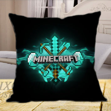 Minecraft Swords on Square Pillow Cover