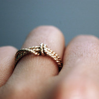 14k gold filled Lassoed Rope Love Ring