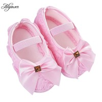 Baby Girl Shoes, Soft Sole Crib Shoes With Bow Knot