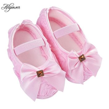 Baby Girl Ribbon Bowknot Walking Shoes