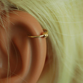 tiny ball Cartilage hoop, gold hoop earring, cartilage ring, silver cartilage jewelry, nose hoop, gold nose ring