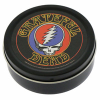 Round Steal Your Face Grateful Dead Tin