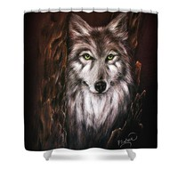 Hunter in the Night Shower Curtain