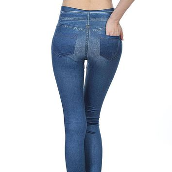 Popular Women Jeggings Jean Hot sale Genie Slim Jegging Winter Women Jeggings And Women Fashion Leggings With2 Real Pockets