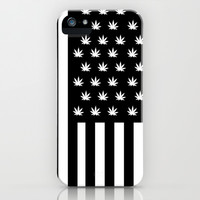 Weed n Stripes iPhone & iPod Case by Freddy