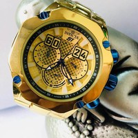 High Quality Small Pointer All Available Working S1 Pull Man 52mm Large Dial DZ7333 Outdoor Sport Quartz Men's Watch INVICTAS