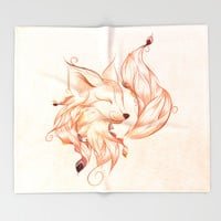 Fox Throw Blanket by LouJah | Society6