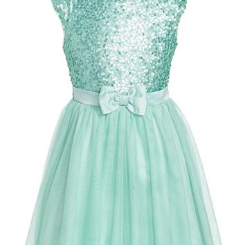 Girl's Zunie 'Paige' Sequin Party Dress