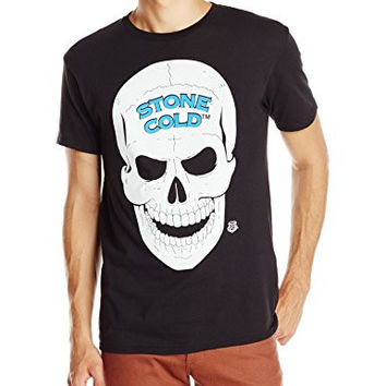 WWE Men's Legends Stone Cold Steve Austin 3 16 and Skull Licensed T-Shirt, Black, Small
