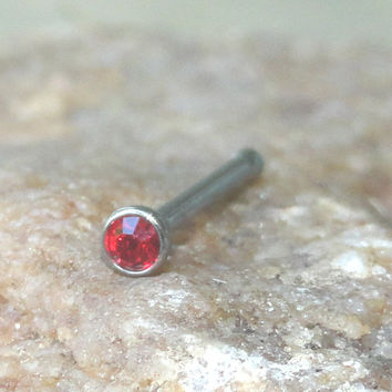 Red Crystal Nose Stud Nose Ring