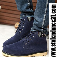 Navy Men Shoes Casual Boots code100032