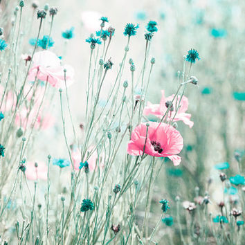 Teal and pink flowers images flower decoration ideas aqua nursery canvas set of three teal from carolyncochrane on pink aqua flower photography teal blue mightylinksfo